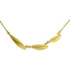<!--NK655-->horizontal leaves necklace 14k