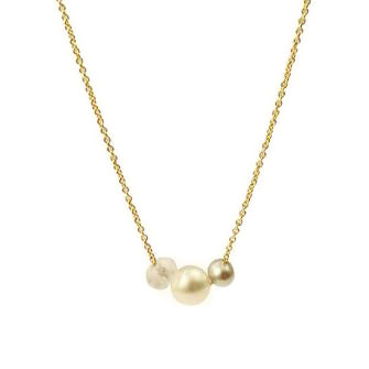 SALE - dainty necklace with moonstone and pearl