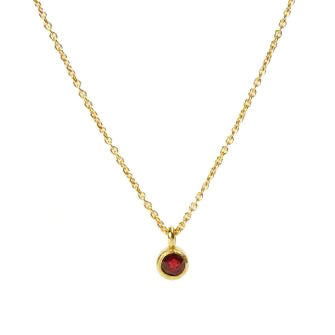 <!--NK674ruby-->large dainty necklace with ruby