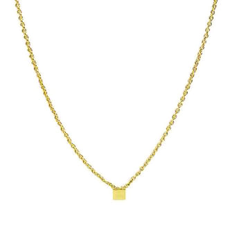 <!--NK705-->itty bitty square necklace