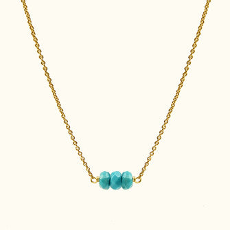 mini gemstone bar necklace