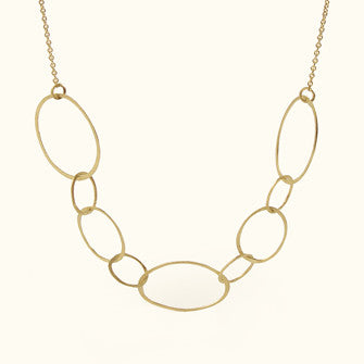 micro ellipse necklace