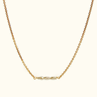 slinky pearl bar necklace