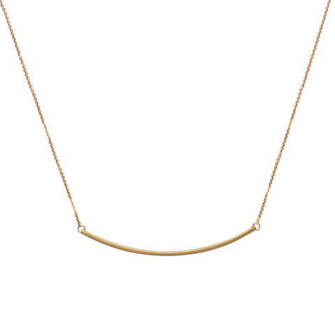 <!--NK769-->curved slinky bar necklace