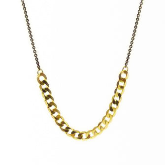 <!--NK772-->slinky curb chain necklace