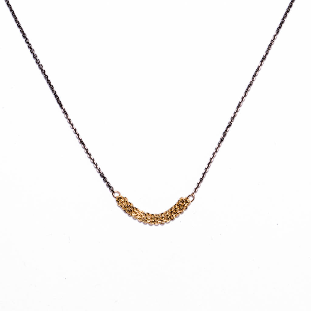 <!--NK780-->slinky short chains necklace