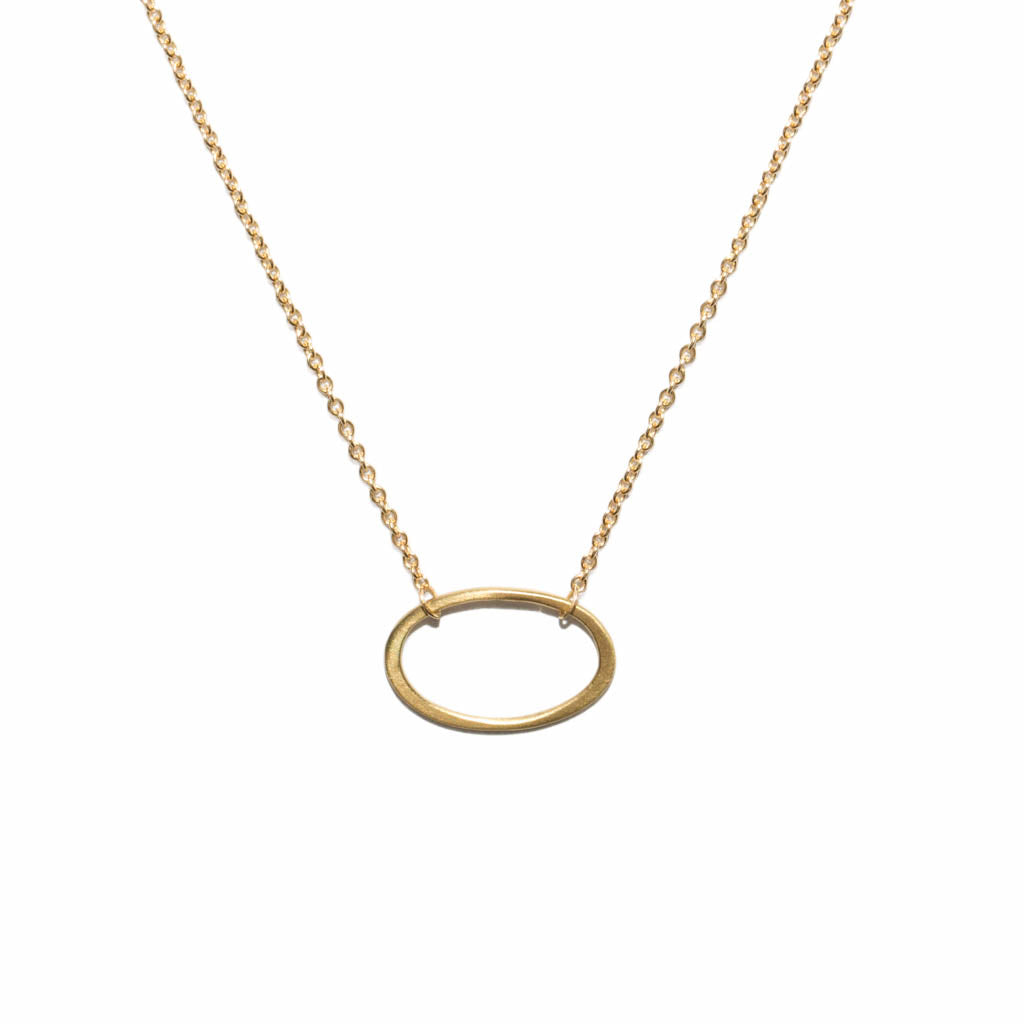 <!--NK878-->mini oval necklace