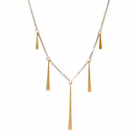 <!--NK905-->slinky gold shards necklace