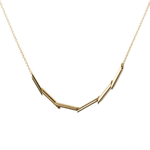 <!--NK950-->scaled tubular mirror necklace