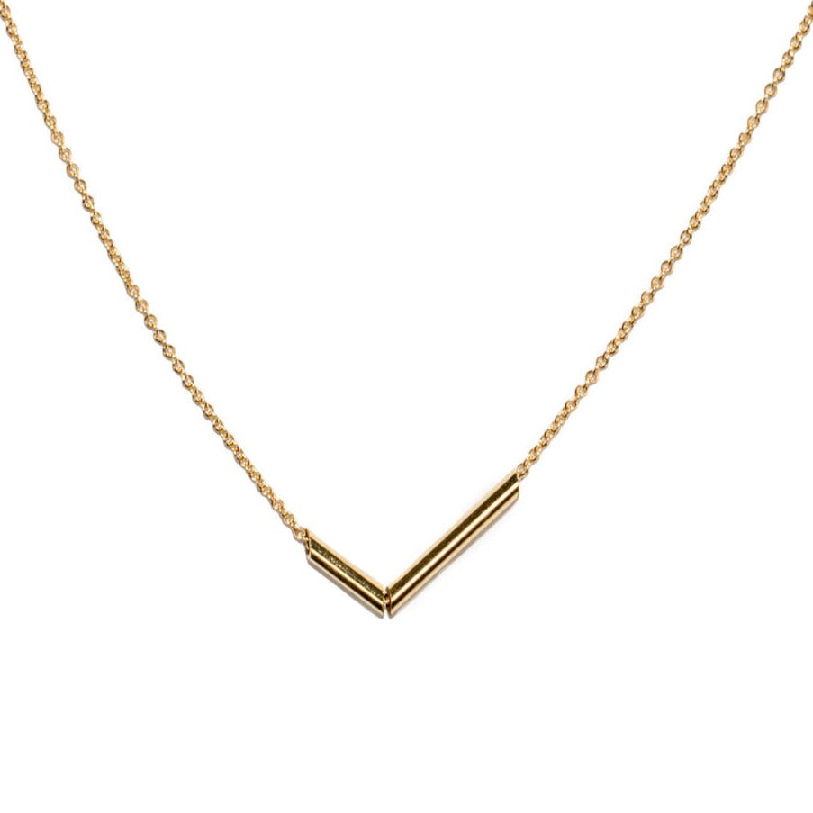 <!--NK952-->chopped tubular mirror necklace