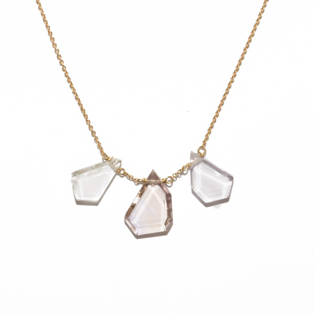<!--NK959-->triple fragment necklace