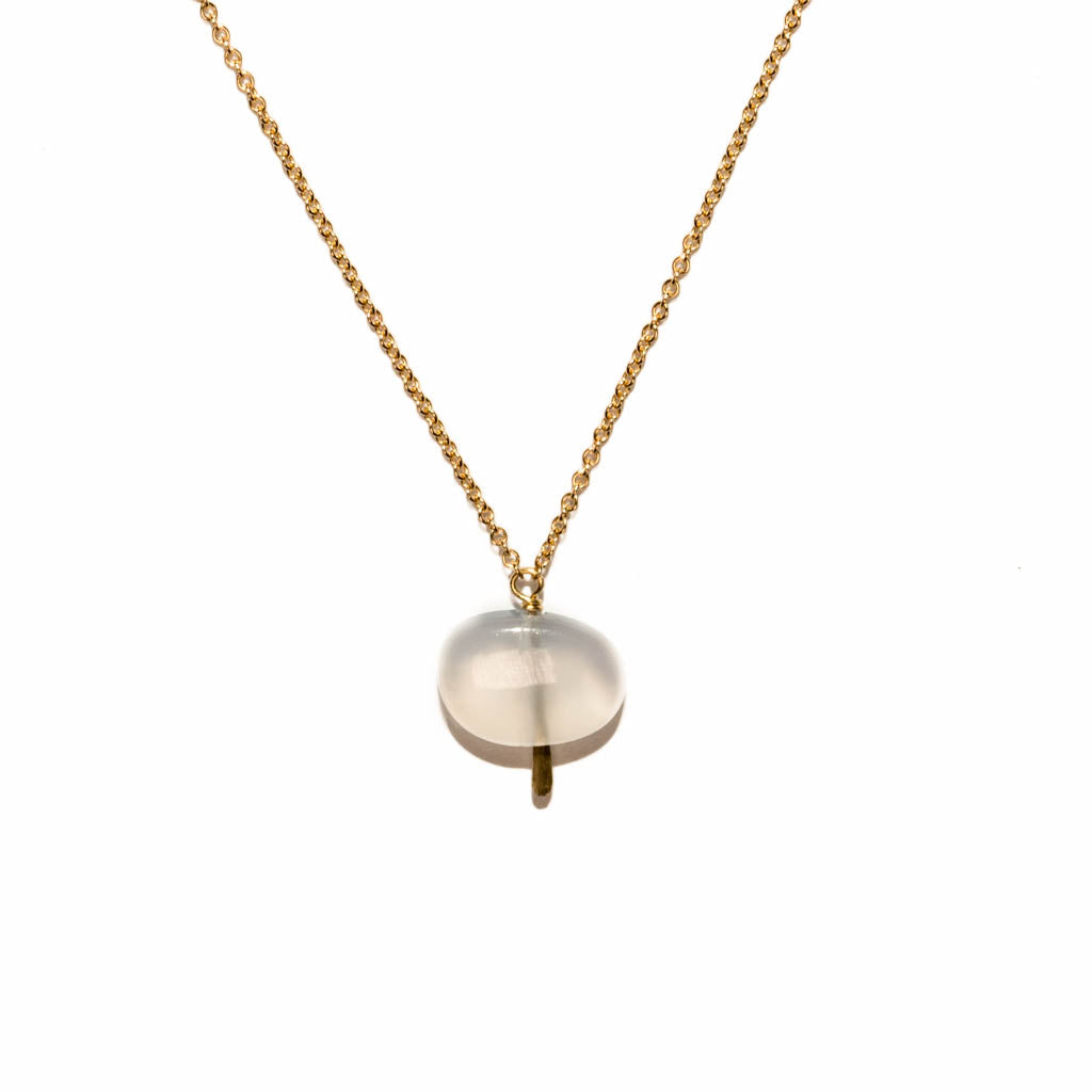 <!--NK960-->single pebble necklace