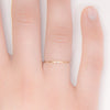 dainty dot ring with diamond