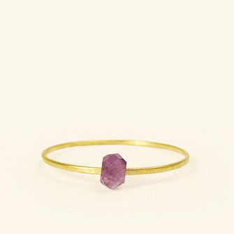 dainty ring with amethyst