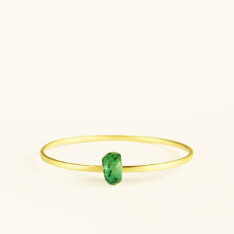dainty ring with emerald