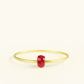 dainty ring with ruby