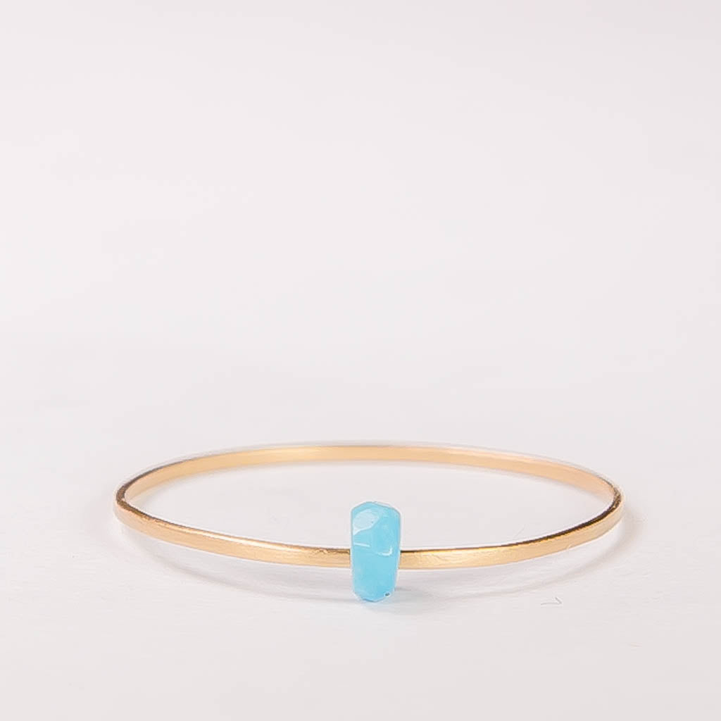 SALE - dainty ring with faceted turquoise