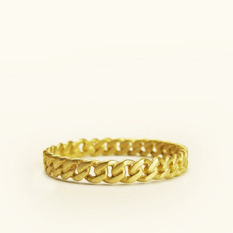 small chain wedding band