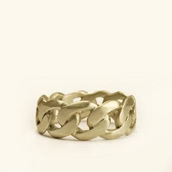 large chain wedding band