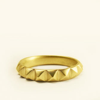 medium studded wedding band