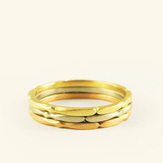 tiny moroccan stacking ring set