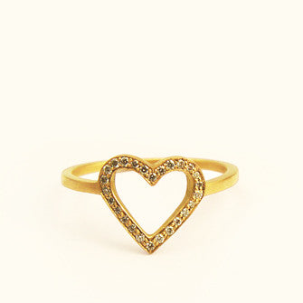 pavé edgy heart