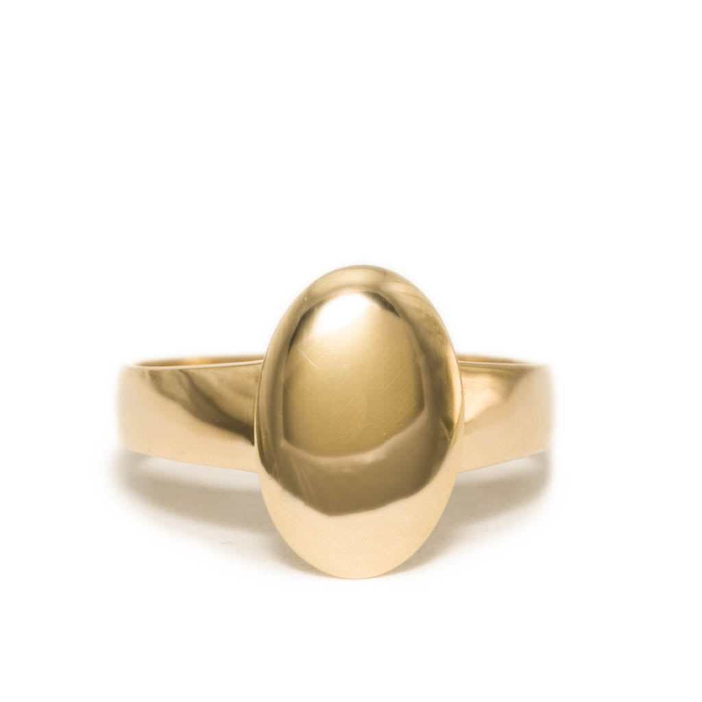 <!--RG742-->small oval mirror ring