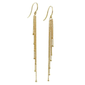 <!--ER742-->cascading tassel earrings