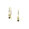 <!--ER603sapp-->dainty earrings with blue sapphire