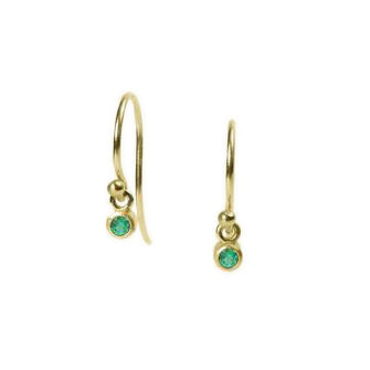 <!--ER603emerald-->dainty earrings with emerald