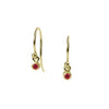<!--ER603ruby-->dainty earrings with ruby