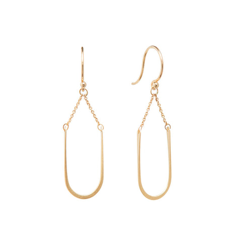 <!--ER937-->small modern arch earrings