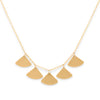 <!--NK974--> ginkgo bold 5 leaf necklace