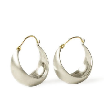 <!--ER229-->large half moon hoop earrings