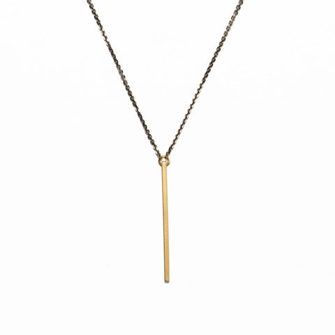 <!--NK770-->vertical slinky bar necklace