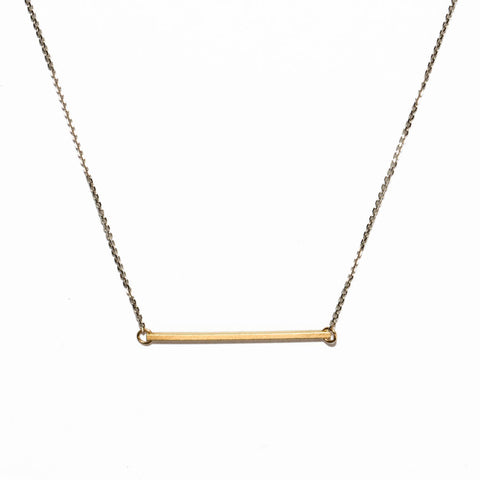 <!--NK771-->horizontal slinky bar necklace