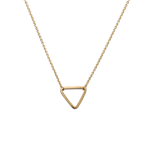 <!--NK882-->mini triangle necklace