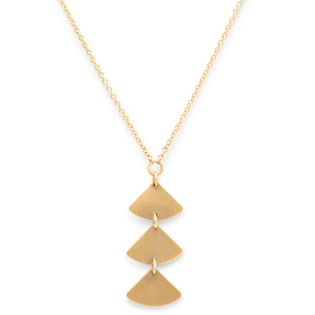 <!--NK972--> ginkgo bold 3 leaf necklace