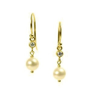 <!--ER568-->pearl sparkler drop earrings