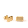 <!--ER792-->emerald cut gold jewel stud earrings