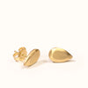 <!--ER796-->pear cut gold jewel stud earrings