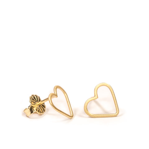 <!--ER776-->mini heart stud earrings