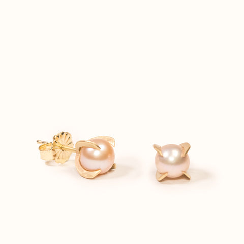 <!--ER808-->pearl shard stud earrings