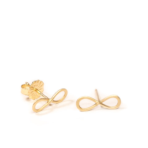 <!--ER774-->mini infinity stud earrings