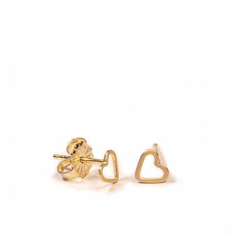 <!--ER769-->wee heart stud earrings