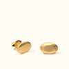 <!--ER794-->oval cut gold jewel stud earrings