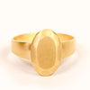<!--RG712-->small oval cut gold jewel ring