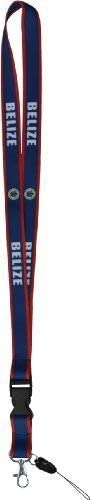 "28"" Belize Flag Lanyard"