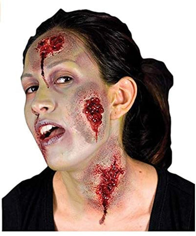 Woochie Classic Latex Appliances - Professional Quality Halloween Costume Makeup - Oozing Wounds