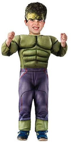 Avengers Marvel Hulk Toddler Muscle Costume with Headpiece Size 1-2